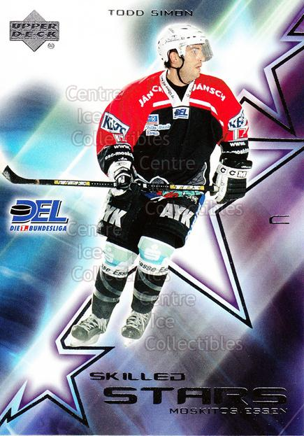 2001-02 German DEL Skilled Stars #4 Todd Simon<br/>1 In Stock - $3.00 each - <a href=https://centericecollectibles.foxycart.com/cart?name=2001-02%20German%20DEL%20Skilled%20Stars%20%234%20Todd%20Simon...&quantity_max=1&price=$3.00&code=93916 class=foxycart> Buy it now! </a>