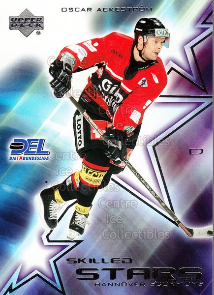 2001-02 German DEL Skilled Stars #5 Oscar Ackestrom<br/>4 In Stock - $3.00 each - <a href=https://centericecollectibles.foxycart.com/cart?name=2001-02%20German%20DEL%20Skilled%20Stars%20%235%20Oscar%20Ackestrom...&quantity_max=4&price=$3.00&code=93917 class=foxycart> Buy it now! </a>