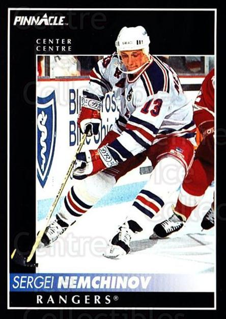 1992-93 Pinnacle Canadian #158 Sergei Nemchinov<br/>5 In Stock - $1.00 each - <a href=https://centericecollectibles.foxycart.com/cart?name=1992-93%20Pinnacle%20Canadian%20%23158%20Sergei%20Nemchino...&quantity_max=5&price=$1.00&code=9394 class=foxycart> Buy it now! </a>