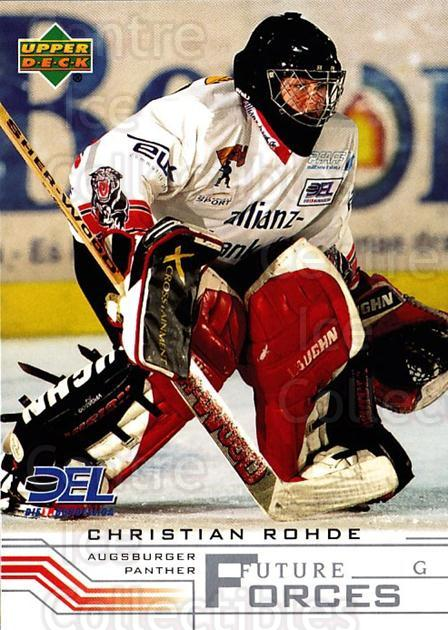 2001-02 German DEL #242 Christian Rohde<br/>6 In Stock - $2.00 each - <a href=https://centericecollectibles.foxycart.com/cart?name=2001-02%20German%20DEL%20%23242%20Christian%20Rohde...&quantity_max=6&price=$2.00&code=94065 class=foxycart> Buy it now! </a>