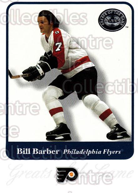 2001-02 Fleer Greats of the Game #38 Bill Barber<br/>9 In Stock - $1.00 each - <a href=https://centericecollectibles.foxycart.com/cart?name=2001-02%20Fleer%20Greats%20of%20the%20Game%20%2338%20Bill%20Barber...&quantity_max=9&price=$1.00&code=94111 class=foxycart> Buy it now! </a>