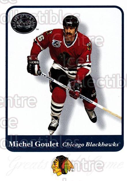 2001-02 Fleer Greats of the Game #59 Michel Goulet<br/>8 In Stock - $1.00 each - <a href=https://centericecollectibles.foxycart.com/cart?name=2001-02%20Fleer%20Greats%20of%20the%20Game%20%2359%20Michel%20Goulet...&quantity_max=8&price=$1.00&code=94134 class=foxycart> Buy it now! </a>