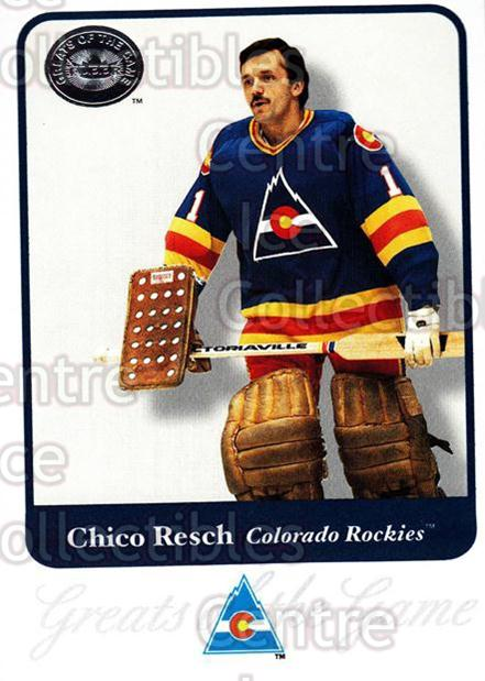 2001-02 Fleer Greats of the Game #64 Glenn Resch<br/>1 In Stock - $1.00 each - <a href=https://centericecollectibles.foxycart.com/cart?name=2001-02%20Fleer%20Greats%20of%20the%20Game%20%2364%20Glenn%20Resch...&quantity_max=1&price=$1.00&code=94140 class=foxycart> Buy it now! </a>