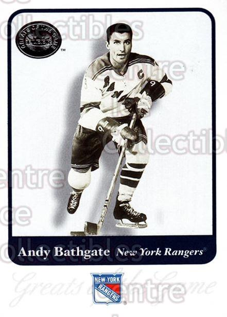 2001-02 Fleer Greats of the Game #65 Andy Bathgate<br/>11 In Stock - $1.00 each - <a href=https://centericecollectibles.foxycart.com/cart?name=2001-02%20Fleer%20Greats%20of%20the%20Game%20%2365%20Andy%20Bathgate...&quantity_max=11&price=$1.00&code=94141 class=foxycart> Buy it now! </a>