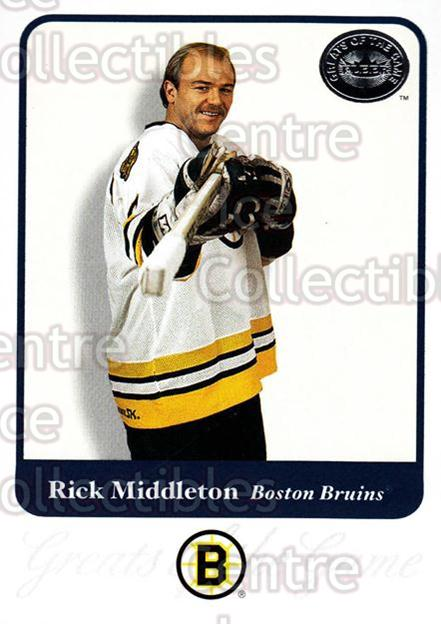 2001-02 Fleer Greats of the Game #70 Rick Middleton<br/>10 In Stock - $1.00 each - <a href=https://centericecollectibles.foxycart.com/cart?name=2001-02%20Fleer%20Greats%20of%20the%20Game%20%2370%20Rick%20Middleton...&quantity_max=10&price=$1.00&code=94146 class=foxycart> Buy it now! </a>