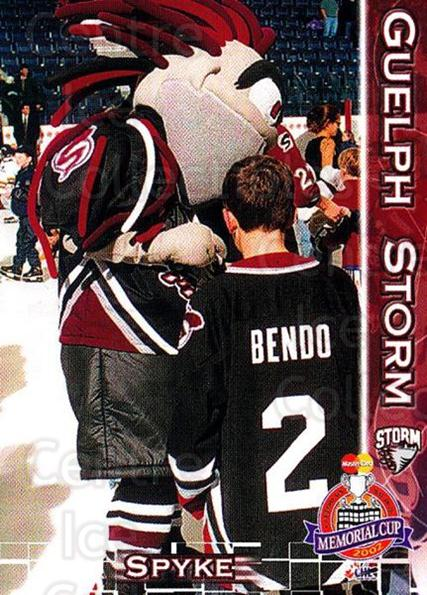 2001-02 Guelph Storm Memorial Cup #27 Mascot<br/>4 In Stock - $3.00 each - <a href=https://centericecollectibles.foxycart.com/cart?name=2001-02%20Guelph%20Storm%20Memorial%20Cup%20%2327%20Mascot...&quantity_max=4&price=$3.00&code=94185 class=foxycart> Buy it now! </a>