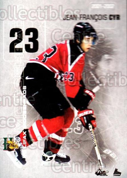 2001-02 Halifax Mooseheads #6 Jean-Francois Cyr<br/>12 In Stock - $3.00 each - <a href=https://centericecollectibles.foxycart.com/cart?name=2001-02%20Halifax%20Mooseheads%20%236%20Jean-Francois%20C...&quantity_max=12&price=$3.00&code=94201 class=foxycart> Buy it now! </a>