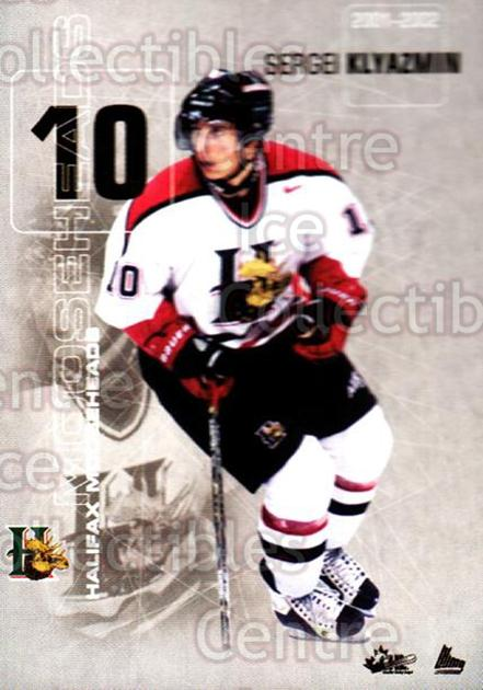2001-02 Halifax Mooseheads #14 Sergei Klyazmin<br/>1 In Stock - $3.00 each - <a href=https://centericecollectibles.foxycart.com/cart?name=2001-02%20Halifax%20Mooseheads%20%2314%20Sergei%20Klyazmin...&quantity_max=1&price=$3.00&code=94218 class=foxycart> Buy it now! </a>