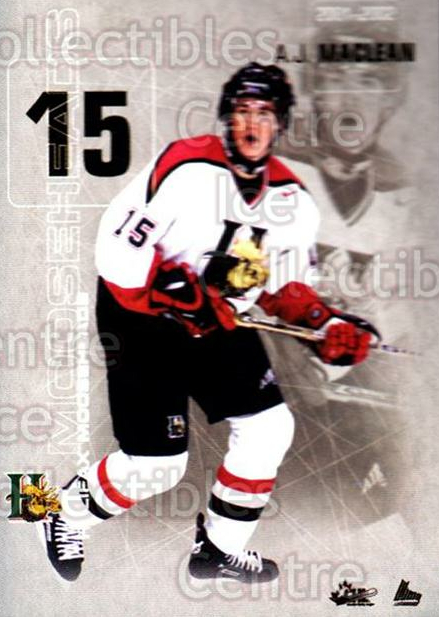 2001-02 Halifax Mooseheads #16 AJ MacLean<br/>5 In Stock - $3.00 each - <a href=https://centericecollectibles.foxycart.com/cart?name=2001-02%20Halifax%20Mooseheads%20%2316%20AJ%20MacLean...&quantity_max=5&price=$3.00&code=94219 class=foxycart> Buy it now! </a>
