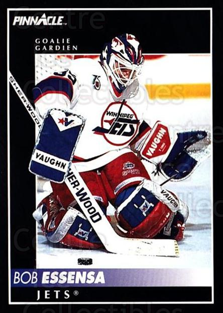 1992-93 Pinnacle Canadian #190 Bob Essensa<br/>4 In Stock - $1.00 each - <a href=https://centericecollectibles.foxycart.com/cart?name=1992-93%20Pinnacle%20Canadian%20%23190%20Bob%20Essensa...&quantity_max=4&price=$1.00&code=9428 class=foxycart> Buy it now! </a>
