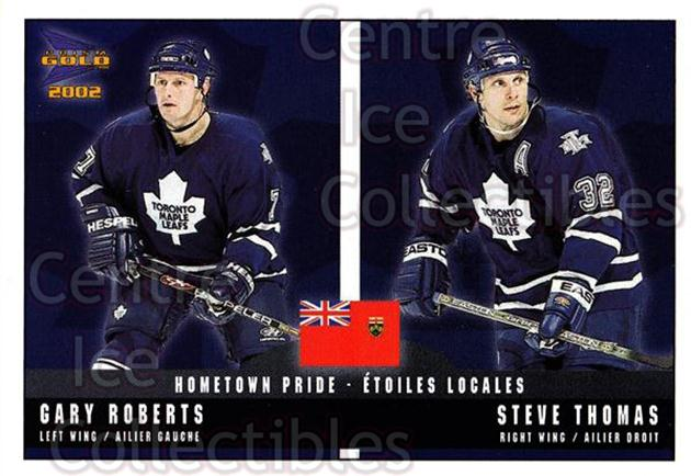 2001-02 McDonalds Pacific Hometown Pride #10 Gary Roberts, Steve Thomas<br/>10 In Stock - $1.00 each - <a href=https://centericecollectibles.foxycart.com/cart?name=2001-02%20McDonalds%20Pacific%20Hometown%20Pride%20%2310%20Gary%20Roberts,%20S...&quantity_max=10&price=$1.00&code=94467 class=foxycart> Buy it now! </a>