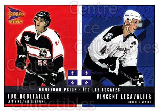 2001-02 McDonalds Pacific Hometown Pride #7 Luc Robitaille, Vincent Lecavalier<br/>10 In Stock - $1.00 each - <a href=https://centericecollectibles.foxycart.com/cart?name=2001-02%20McDonalds%20Pacific%20Hometown%20Pride%20%237%20Luc%20Robitaille,...&quantity_max=10&price=$1.00&code=94472 class=foxycart> Buy it now! </a>