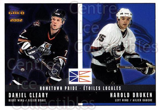 2001-02 McDonalds Pacific Hometown Pride #8 Daniel Cleary, Harold Druken<br/>10 In Stock - $1.00 each - <a href=https://centericecollectibles.foxycart.com/cart?name=2001-02%20McDonalds%20Pacific%20Hometown%20Pride%20%238%20Daniel%20Cleary,%20...&quantity_max=10&price=$1.00&code=94473 class=foxycart> Buy it now! </a>