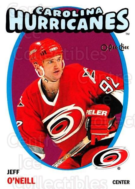 2001-02 O-Pee-Chee Heritage Parallel Insert #107 Jeff O'Neill<br/>9 In Stock - $2.00 each - <a href=https://centericecollectibles.foxycart.com/cart?name=2001-02%20O-Pee-Chee%20Heritage%20Parallel%20Insert%20%23107%20Jeff%20O'Neill...&quantity_max=9&price=$2.00&code=94584 class=foxycart> Buy it now! </a>