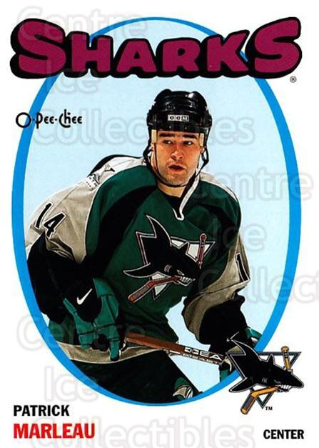 2001-02 O-Pee-Chee Heritage Parallel Insert #9 Patrick Marleau<br/>8 In Stock - $2.00 each - <a href=https://centericecollectibles.foxycart.com/cart?name=2001-02%20O-Pee-Chee%20Heritage%20Parallel%20Insert%20%239%20Patrick%20Marleau...&quantity_max=8&price=$2.00&code=94609 class=foxycart> Buy it now! </a>