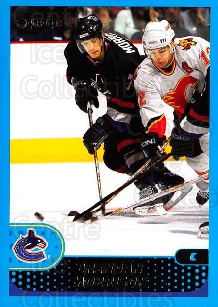 2001-02 O-Pee-Chee #144 Brendan Morrison<br/>4 In Stock - $1.00 each - <a href=https://centericecollectibles.foxycart.com/cart?name=2001-02%20O-Pee-Chee%20%23144%20Brendan%20Morriso...&quantity_max=4&price=$1.00&code=94669 class=foxycart> Buy it now! </a>