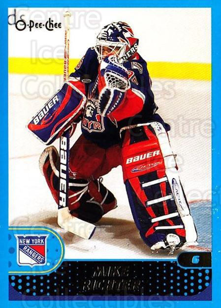 2001-02 O-Pee-Chee #187 Mike Richter<br/>4 In Stock - $1.00 each - <a href=https://centericecollectibles.foxycart.com/cart?name=2001-02%20O-Pee-Chee%20%23187%20Mike%20Richter...&quantity_max=4&price=$1.00&code=94716 class=foxycart> Buy it now! </a>