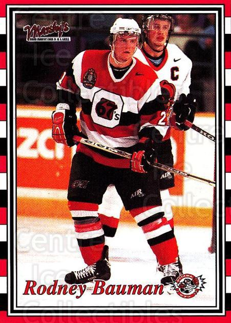 2001-02 Ottawa 67s #15 Rodney Bauman<br/>6 In Stock - $3.00 each - <a href=https://centericecollectibles.foxycart.com/cart?name=2001-02%20Ottawa%2067s%20%2315%20Rodney%20Bauman...&price=$3.00&code=94789 class=foxycart> Buy it now! </a>