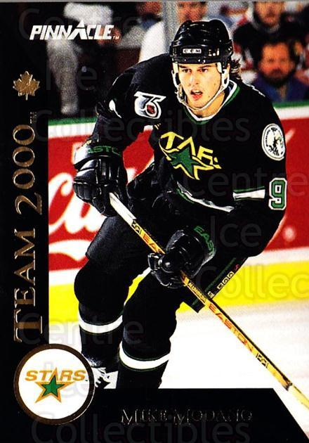 1992-93 Pinnacle Team 2000 French #2 Mike Modano<br/>2 In Stock - $2.00 each - <a href=https://centericecollectibles.foxycart.com/cart?name=1992-93%20Pinnacle%20Team%202000%20French%20%232%20Mike%20Modano...&quantity_max=2&price=$2.00&code=9486 class=foxycart> Buy it now! </a>