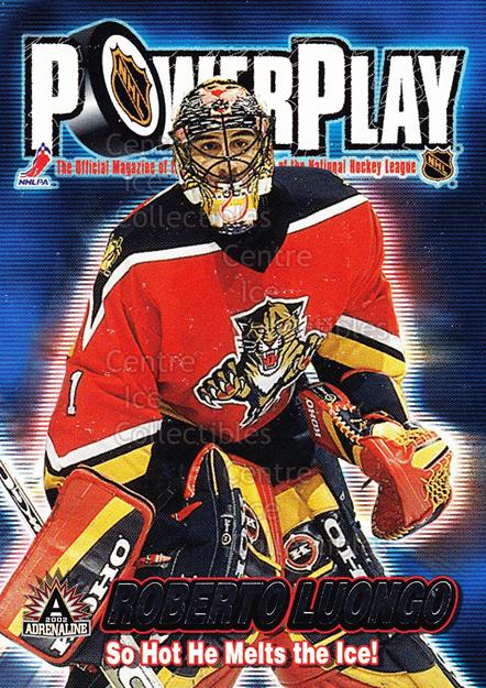 2001-02 Pacific Adrenaline Power Play #17 Roberto Luongo<br/>5 In Stock - $2.00 each - <a href=https://centericecollectibles.foxycart.com/cart?name=2001-02%20Pacific%20Adrenaline%20Power%20Play%20%2317%20Roberto%20Luongo...&quantity_max=5&price=$2.00&code=94873 class=foxycart> Buy it now! </a>