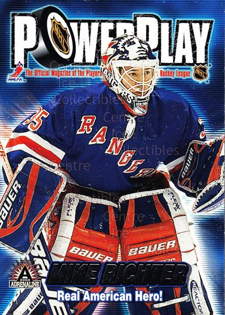 2001-02 Adrenaline Power Play #24 Mike Richter<br/>7 In Stock - $2.00 each - <a href=https://centericecollectibles.foxycart.com/cart?name=2001-02%20Adrenaline%20Power%20Play%20%2324%20Mike%20Richter...&quantity_max=7&price=$2.00&code=94879 class=foxycart> Buy it now! </a>