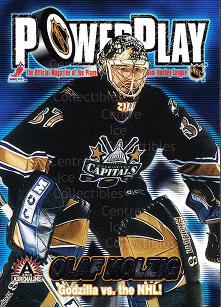 2001-02 Adrenaline Power Play #36 Olaf Kolzig<br/>7 In Stock - $2.00 each - <a href=https://centericecollectibles.foxycart.com/cart?name=2001-02%20Adrenaline%20Power%20Play%20%2336%20Olaf%20Kolzig...&quantity_max=7&price=$2.00&code=94891 class=foxycart> Buy it now! </a>