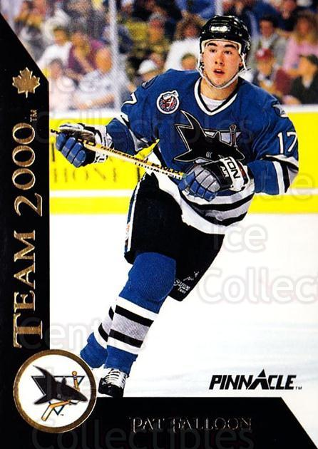 1992-93 Pinnacle Team 2000 French #26 Pat Falloon<br/>11 In Stock - $2.00 each - <a href=https://centericecollectibles.foxycart.com/cart?name=1992-93%20Pinnacle%20Team%202000%20French%20%2326%20Pat%20Falloon...&quantity_max=11&price=$2.00&code=9491 class=foxycart> Buy it now! </a>