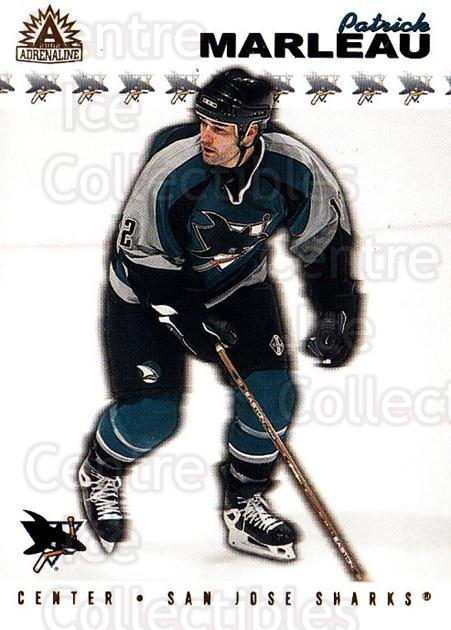 2001-02 Adrenaline #166 Patrick Marleau<br/>5 In Stock - $1.00 each - <a href=https://centericecollectibles.foxycart.com/cart?name=2001-02%20Adrenaline%20%23166%20Patrick%20Marleau...&quantity_max=5&price=$1.00&code=94992 class=foxycart> Buy it now! </a>