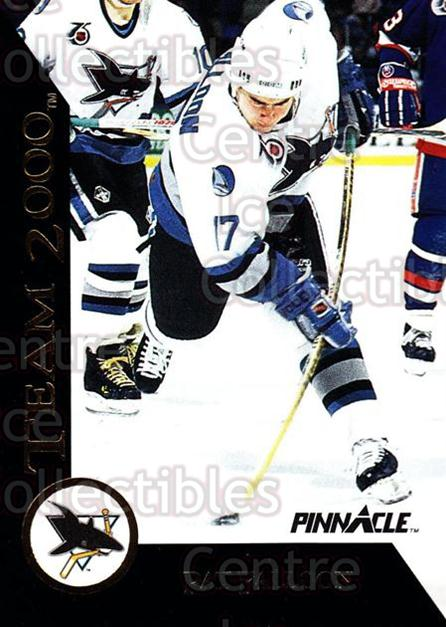1992-93 Pinnacle Team 2000 #26 Pat Falloon<br/>11 In Stock - $2.00 each - <a href=https://centericecollectibles.foxycart.com/cart?name=1992-93%20Pinnacle%20Team%202000%20%2326%20Pat%20Falloon...&quantity_max=11&price=$2.00&code=9515 class=foxycart> Buy it now! </a>