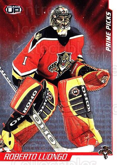 2001-02 Heads-Up Prime Picks #2 Roberto Luongo<br/>2 In Stock - $3.00 each - <a href=https://centericecollectibles.foxycart.com/cart?name=2001-02%20Heads-Up%20Prime%20Picks%20%232%20Roberto%20Luongo...&quantity_max=2&price=$3.00&code=95175 class=foxycart> Buy it now! </a>