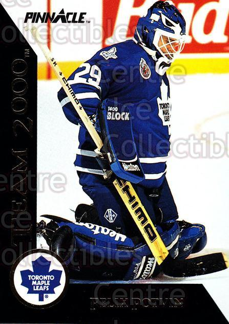 1992-93 Pinnacle Team 2000 #5 Felix Potvin<br/>3 In Stock - $2.00 each - <a href=https://centericecollectibles.foxycart.com/cart?name=1992-93%20Pinnacle%20Team%202000%20%235%20Felix%20Potvin...&quantity_max=3&price=$2.00&code=9520 class=foxycart> Buy it now! </a>