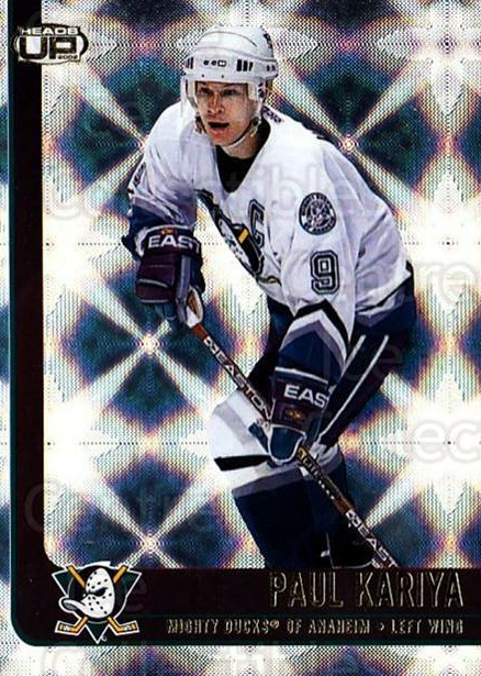2001-02 Heads-Up #1 Paul Kariya<br/>6 In Stock - $1.00 each - <a href=https://centericecollectibles.foxycart.com/cart?name=2001-02%20Heads-Up%20%231%20Paul%20Kariya...&quantity_max=6&price=$1.00&code=95227 class=foxycart> Buy it now! </a>
