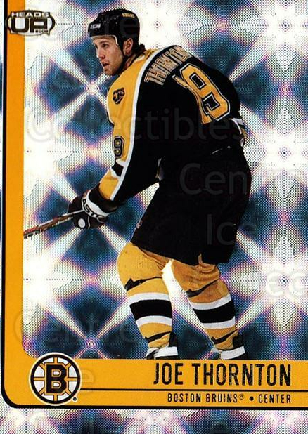 2001-02 Heads-Up #10 Joe Thornton<br/>6 In Stock - $1.00 each - <a href=https://centericecollectibles.foxycart.com/cart?name=2001-02%20Heads-Up%20%2310%20Joe%20Thornton...&quantity_max=6&price=$1.00&code=95228 class=foxycart> Buy it now! </a>