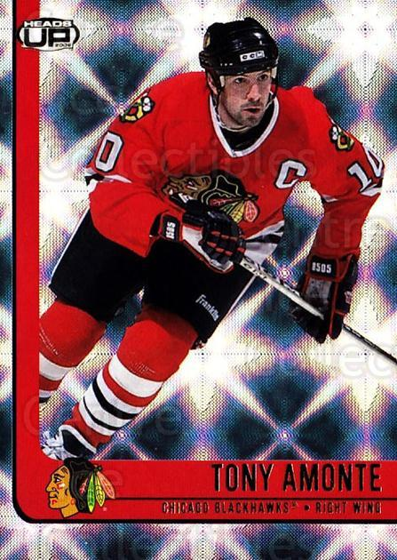 2001-02 Heads-Up #18 Tony Amonte<br/>6 In Stock - $1.00 each - <a href=https://centericecollectibles.foxycart.com/cart?name=2001-02%20Heads-Up%20%2318%20Tony%20Amonte...&quantity_max=6&price=$1.00&code=95248 class=foxycart> Buy it now! </a>