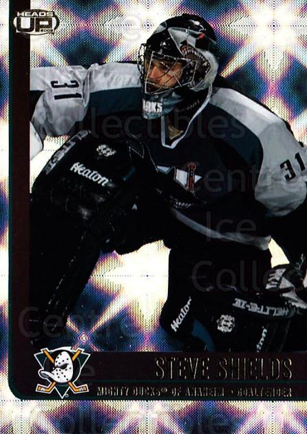 2001-02 Heads-Up #2 Steve Shields<br/>5 In Stock - $1.00 each - <a href=https://centericecollectibles.foxycart.com/cart?name=2001-02%20Heads-Up%20%232%20Steve%20Shields...&quantity_max=5&price=$1.00&code=95250 class=foxycart> Buy it now! </a>