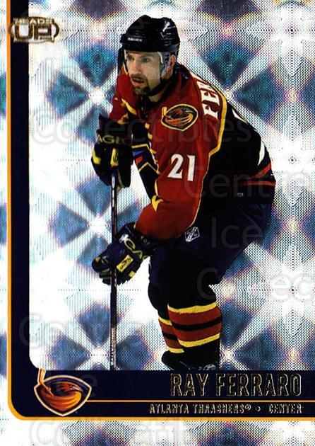 2001-02 Heads-Up #3 Ray Ferraro<br/>6 In Stock - $1.00 each - <a href=https://centericecollectibles.foxycart.com/cart?name=2001-02%20Heads-Up%20%233%20Ray%20Ferraro...&quantity_max=6&price=$1.00&code=95256 class=foxycart> Buy it now! </a>