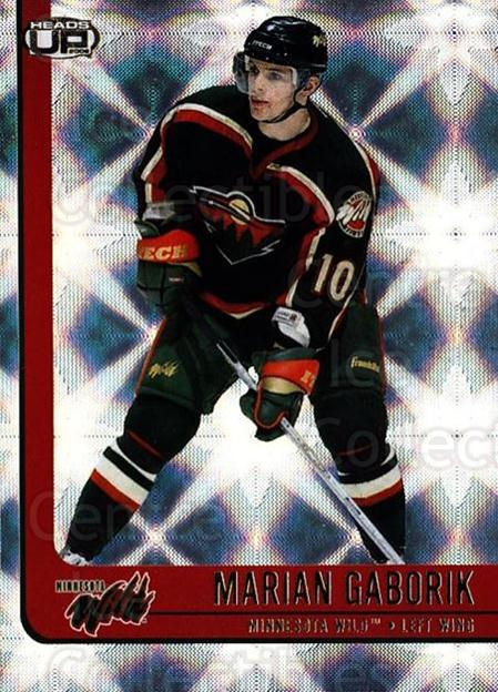 2001-02 Heads-Up #49 Marian Gaborik<br/>6 In Stock - $1.00 each - <a href=https://centericecollectibles.foxycart.com/cart?name=2001-02%20Heads-Up%20%2349%20Marian%20Gaborik...&quantity_max=6&price=$1.00&code=95269 class=foxycart> Buy it now! </a>