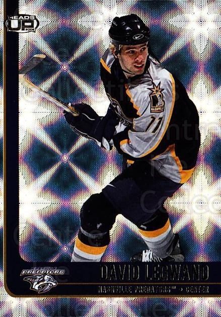 2001-02 Heads-Up #54 David Legwand<br/>6 In Stock - $1.00 each - <a href=https://centericecollectibles.foxycart.com/cart?name=2001-02%20Heads-Up%20%2354%20David%20Legwand...&quantity_max=6&price=$1.00&code=95273 class=foxycart> Buy it now! </a>