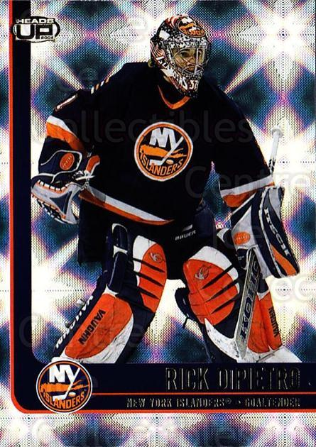 2001-02 Heads-Up #60 Rick DiPietro<br/>6 In Stock - $1.00 each - <a href=https://centericecollectibles.foxycart.com/cart?name=2001-02%20Heads-Up%20%2360%20Rick%20DiPietro...&quantity_max=6&price=$1.00&code=95279 class=foxycart> Buy it now! </a>
