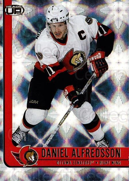 2001-02 Heads-Up #67 Daniel Alfredsson<br/>6 In Stock - $1.00 each - <a href=https://centericecollectibles.foxycart.com/cart?name=2001-02%20Heads-Up%20%2367%20Daniel%20Alfredss...&quantity_max=6&price=$1.00&code=95286 class=foxycart> Buy it now! </a>