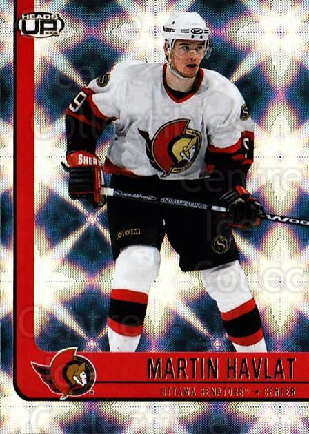 2001-02 Heads-Up #68 Martin Havlat<br/>6 In Stock - $1.00 each - <a href=https://centericecollectibles.foxycart.com/cart?name=2001-02%20Heads-Up%20%2368%20Martin%20Havlat...&quantity_max=6&price=$1.00&code=95287 class=foxycart> Buy it now! </a>