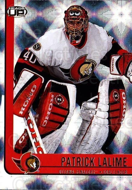 2001-02 Heads-Up #70 Patrick Lalime<br/>4 In Stock - $1.00 each - <a href=https://centericecollectibles.foxycart.com/cart?name=2001-02%20Heads-Up%20%2370%20Patrick%20Lalime...&quantity_max=4&price=$1.00&code=95290 class=foxycart> Buy it now! </a>