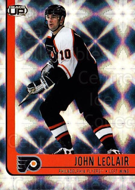 2001-02 Heads-Up #72 John LeClair<br/>6 In Stock - $1.00 each - <a href=https://centericecollectibles.foxycart.com/cart?name=2001-02%20Heads-Up%20%2372%20John%20LeClair...&quantity_max=6&price=$1.00&code=95291 class=foxycart> Buy it now! </a>