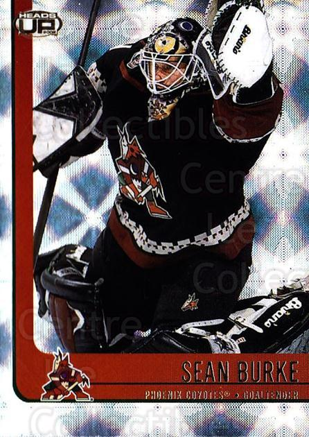 2001-02 Heads-Up #75 Sean Burke<br/>6 In Stock - $1.00 each - <a href=https://centericecollectibles.foxycart.com/cart?name=2001-02%20Heads-Up%20%2375%20Sean%20Burke...&quantity_max=6&price=$1.00&code=95294 class=foxycart> Buy it now! </a>
