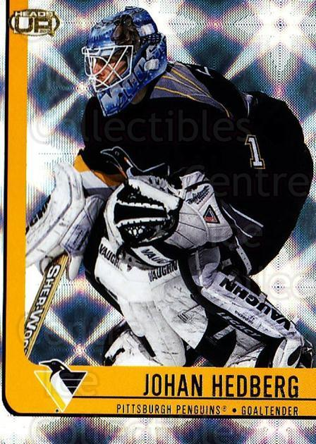2001-02 Heads-Up #76 Johan Hedberg<br/>6 In Stock - $1.00 each - <a href=https://centericecollectibles.foxycart.com/cart?name=2001-02%20Heads-Up%20%2376%20Johan%20Hedberg...&quantity_max=6&price=$1.00&code=95295 class=foxycart> Buy it now! </a>