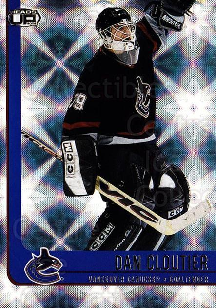 2001-02 Heads-Up #93 Dan Cloutier<br/>6 In Stock - $1.00 each - <a href=https://centericecollectibles.foxycart.com/cart?name=2001-02%20Heads-Up%20%2393%20Dan%20Cloutier...&quantity_max=6&price=$1.00&code=95311 class=foxycart> Buy it now! </a>