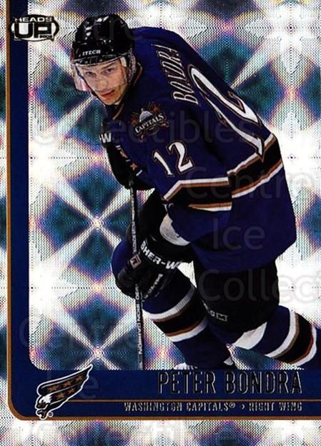2001-02 Heads-Up #97 Peter Bondra<br/>6 In Stock - $1.00 each - <a href=https://centericecollectibles.foxycart.com/cart?name=2001-02%20Heads-Up%20%2397%20Peter%20Bondra...&quantity_max=6&price=$1.00&code=95315 class=foxycart> Buy it now! </a>