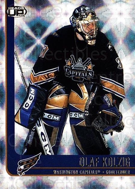 2001-02 Heads-Up #99 Olaf Kolzig<br/>6 In Stock - $1.00 each - <a href=https://centericecollectibles.foxycart.com/cart?name=2001-02%20Heads-Up%20%2399%20Olaf%20Kolzig...&quantity_max=6&price=$1.00&code=95317 class=foxycart> Buy it now! </a>