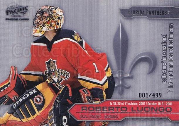 2001 Pacific Montreal International #3 Roberto Luongo<br/>1 In Stock - $5.00 each - <a href=https://centericecollectibles.foxycart.com/cart?name=2001%20Pacific%20Montreal%20International%20%233%20Roberto%20Luongo...&quantity_max=1&price=$5.00&code=95471 class=foxycart> Buy it now! </a>