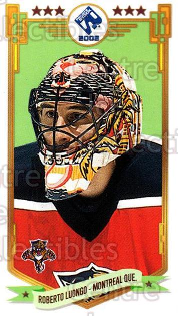 2001-02 Private Stock PS 2002 Action #35 Roberto Luongo<br/>4 In Stock - $2.00 each - <a href=https://centericecollectibles.foxycart.com/cart?name=2001-02%20Private%20Stock%20PS%202002%20Action%20%2335%20Roberto%20Luongo...&quantity_max=4&price=$2.00&code=95957 class=foxycart> Buy it now! </a>